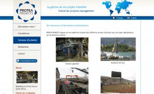 Site internet vitrine, dédié à la gestion de projets industiels