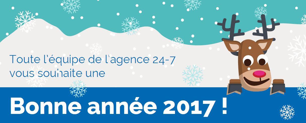 l'agence web 24-7 vous souhaite une bonne année