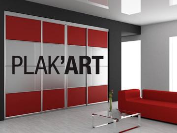 Communication web et print société Plak'art